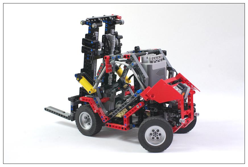 【THO Moc】lego technic fork-lift 叉车 铲车 电动+气动 8416