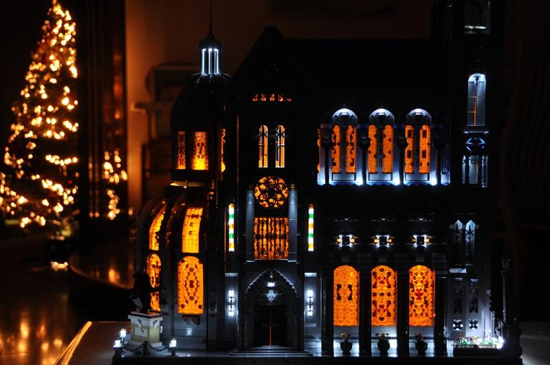 【E的原创】6号MOC作品:哥特之美 — 教堂