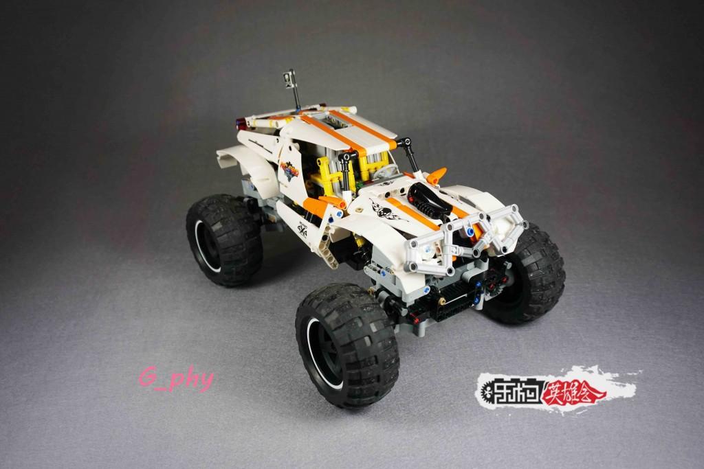 [G-MOC] lego 攀爬车 白色幽灵Mark2+专用枪控