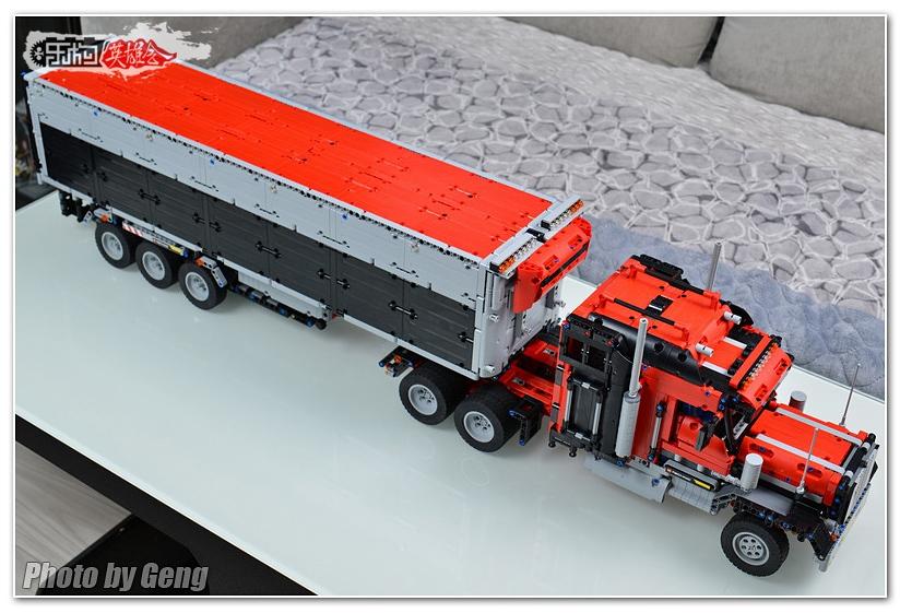 【耿耿MOC作品集】半挂卡车,1.06米长的大家伙