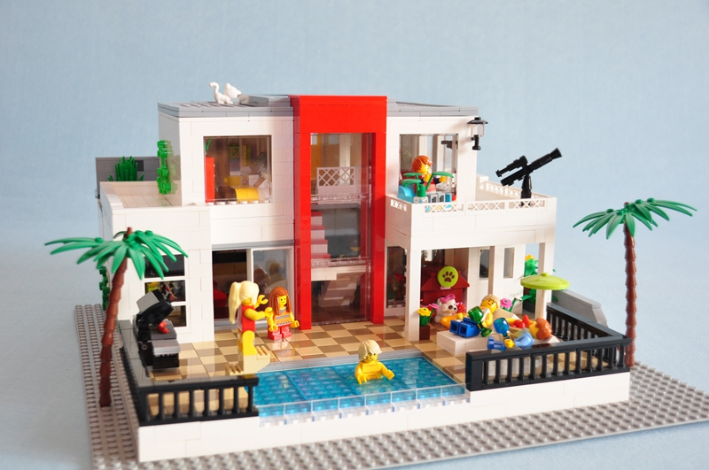 【E的原创】2号MOC作品 — 白色海岸别墅
