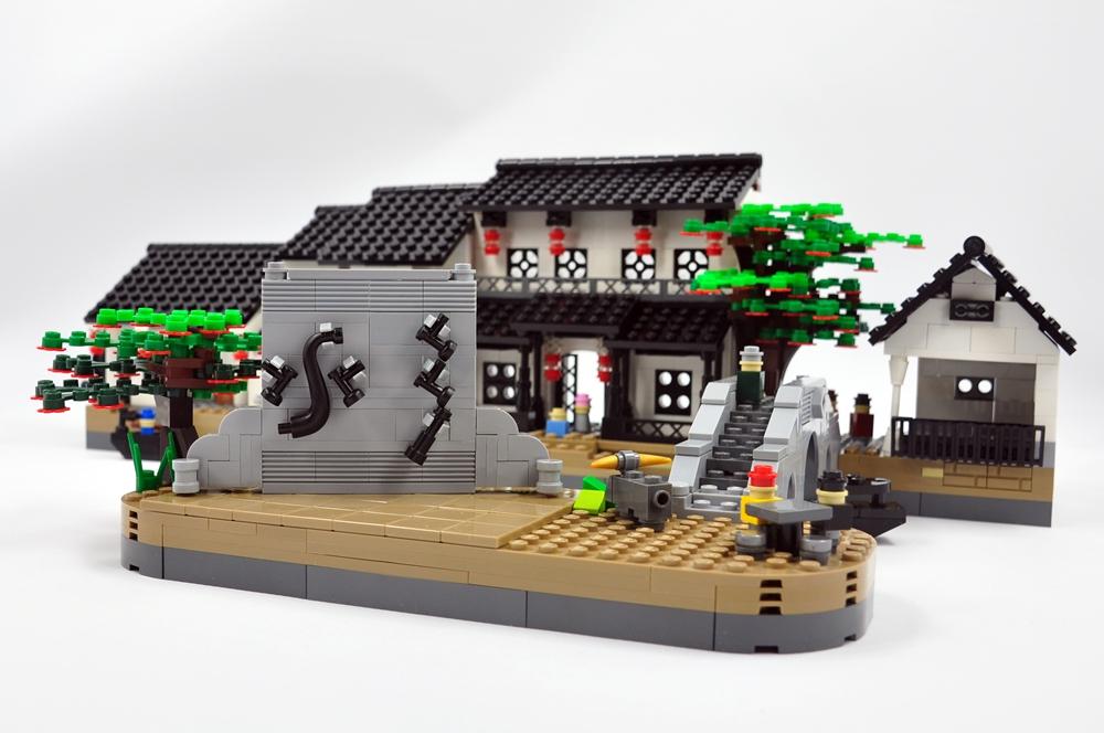 【E的原创】4号MOC作品,再续中国风 — 水乡