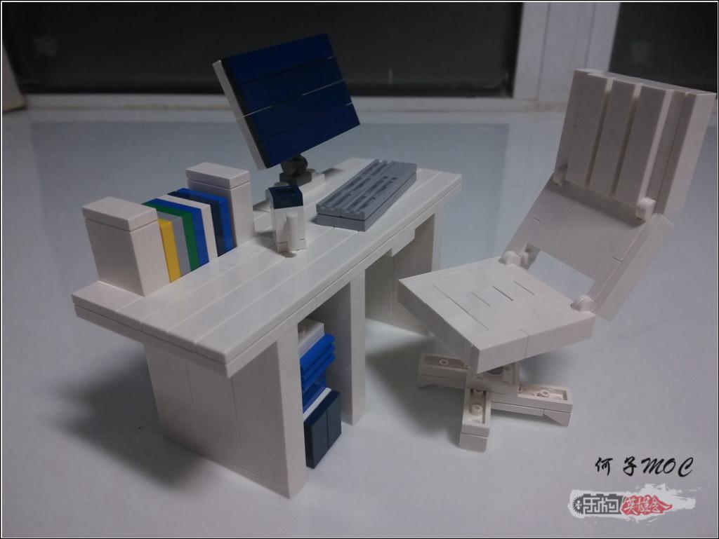 【何子MOC】 纯白~电脑桌