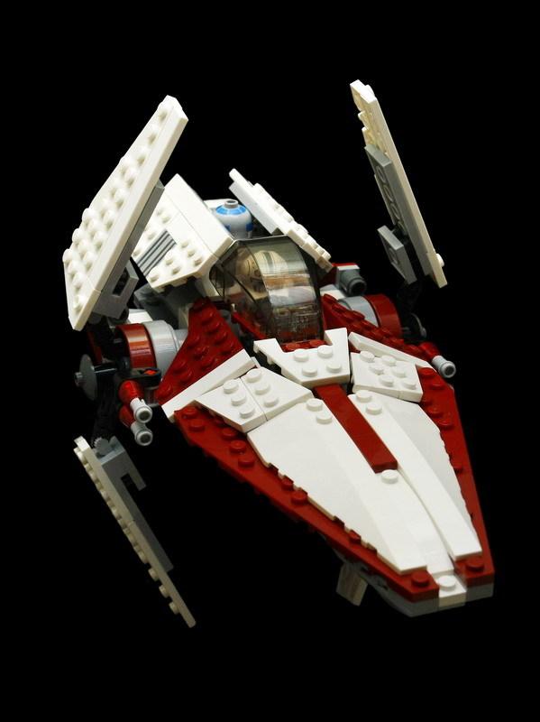 圣光MOC:自建V翼星际战斗机