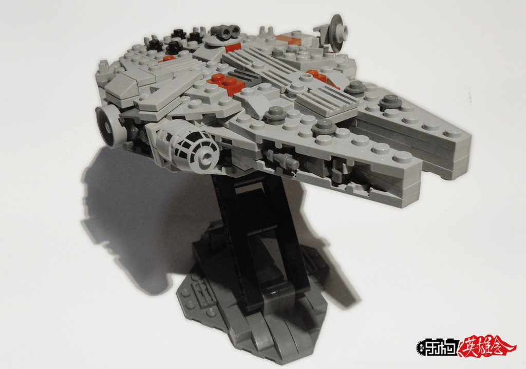 星战MOC——我的1.0179,小号千年隼