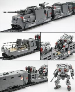 装甲列车(Armored Train)-legorobo:waka