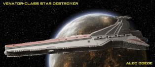 猎兵级歼星舰(Venator-Class Star Destroyer) by Alec
