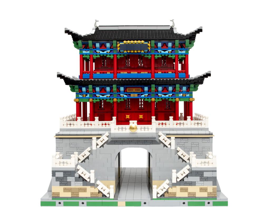 【MOC by sim】古城钟楼—-乐高上海办公室新址沙盘中心建筑