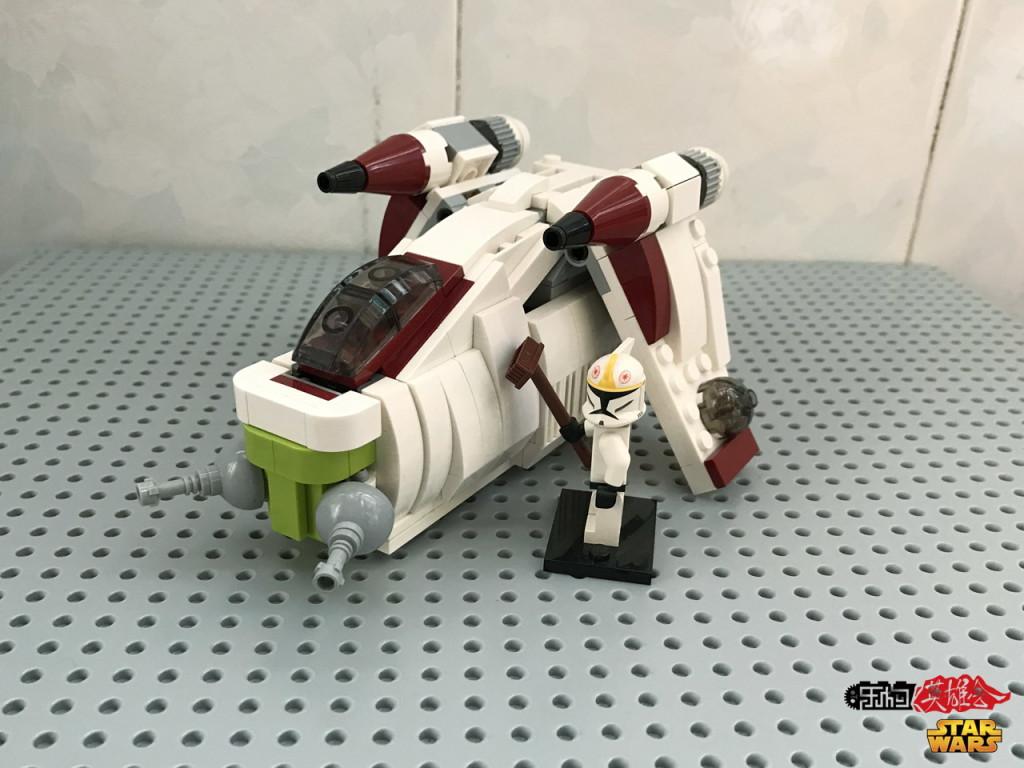 【小某moc】星战载具-共和国炮艇