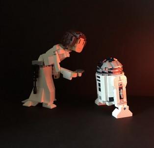 怀念永远的Leia公主,moc作品分享