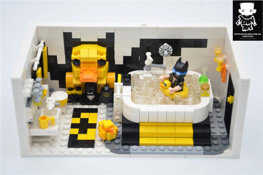 【橙子MOC】蝙蝠侠浴室