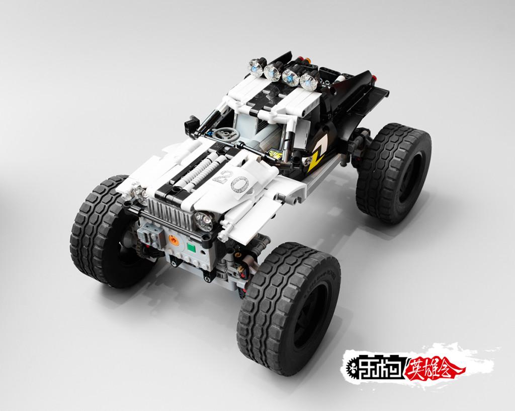 丨冰のmoc丨越野车:极简·黑白双煞