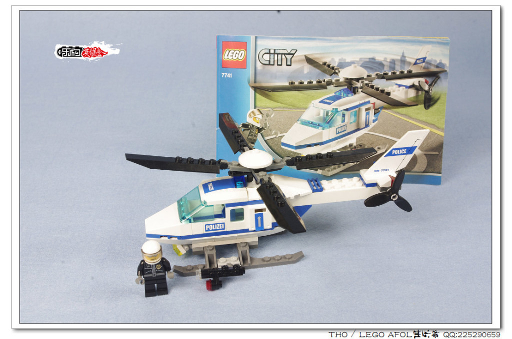 【THO评鉴】乐高 lego 7741 Police Helicopter警用直升机