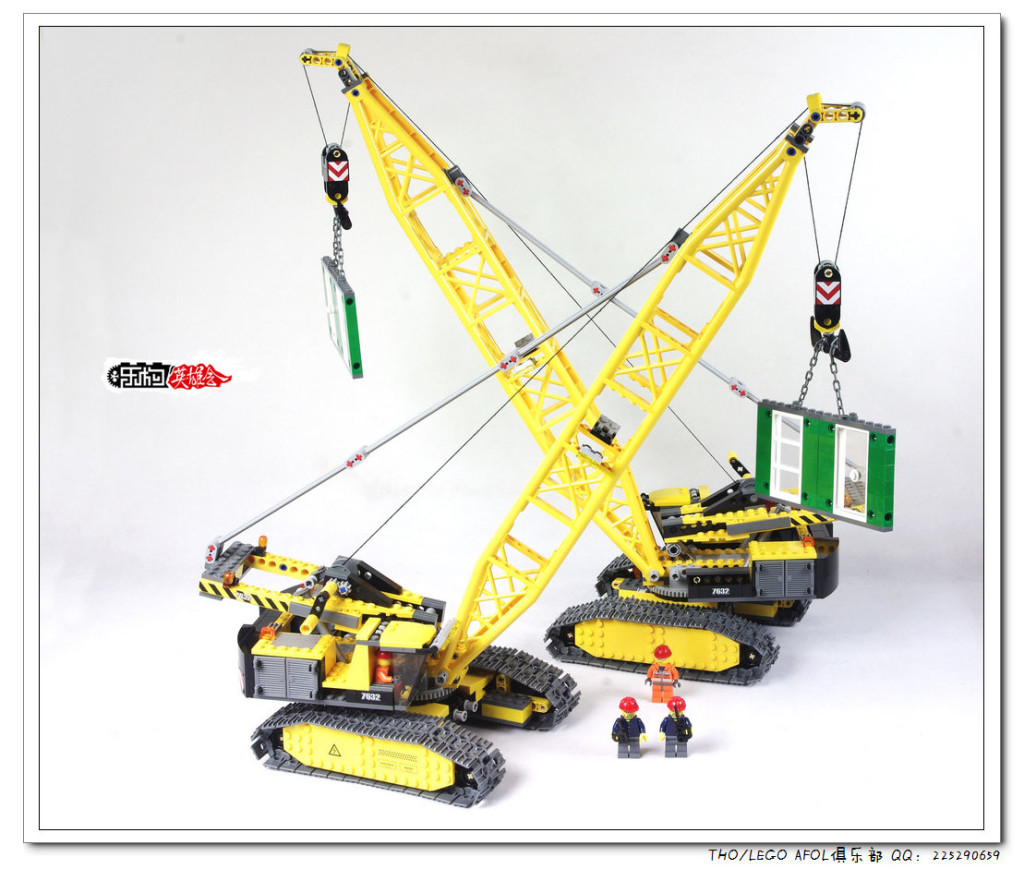 【THO评鉴】乐高 lego 7632 Crawler Crane 履带式起重机