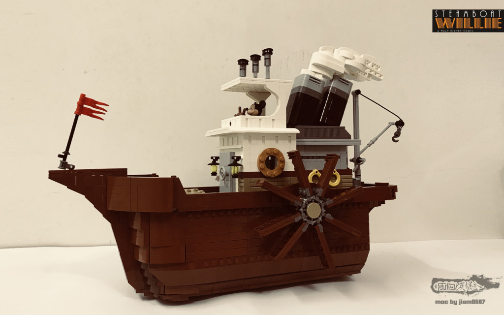 【小某moc】Steamboat Willie 米老鼠的威利汽船