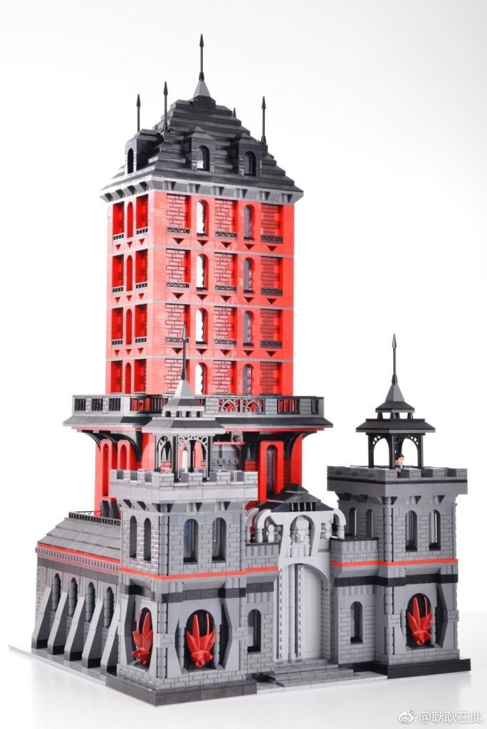 【耿耿MOC作品】用一件红火的作品来祈福本命年-赤色要塞