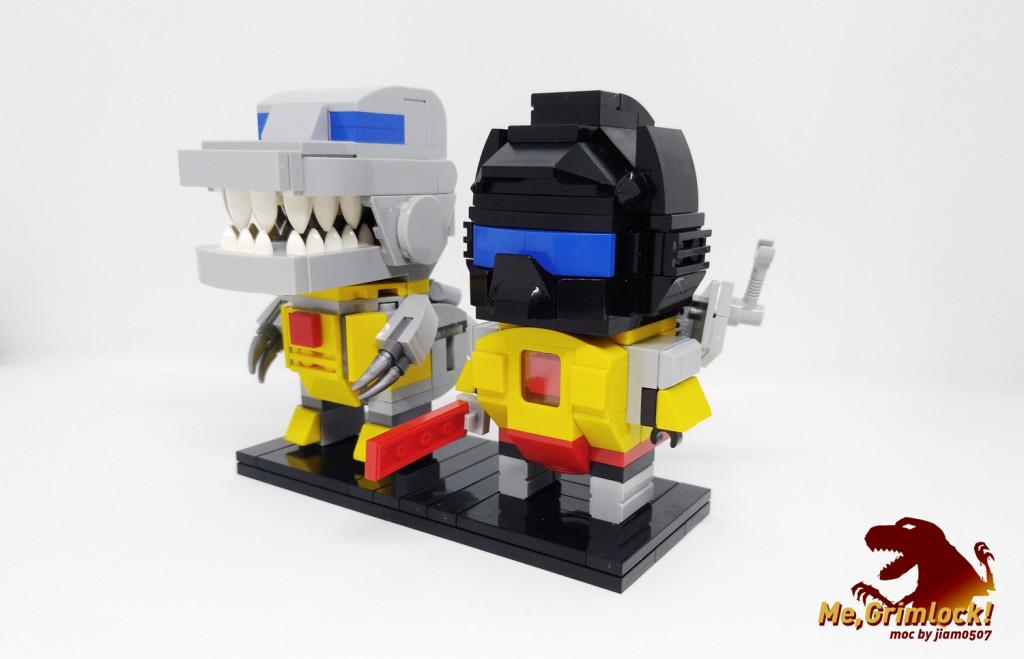 【小某moc】 G1钢锁 Brickheadz