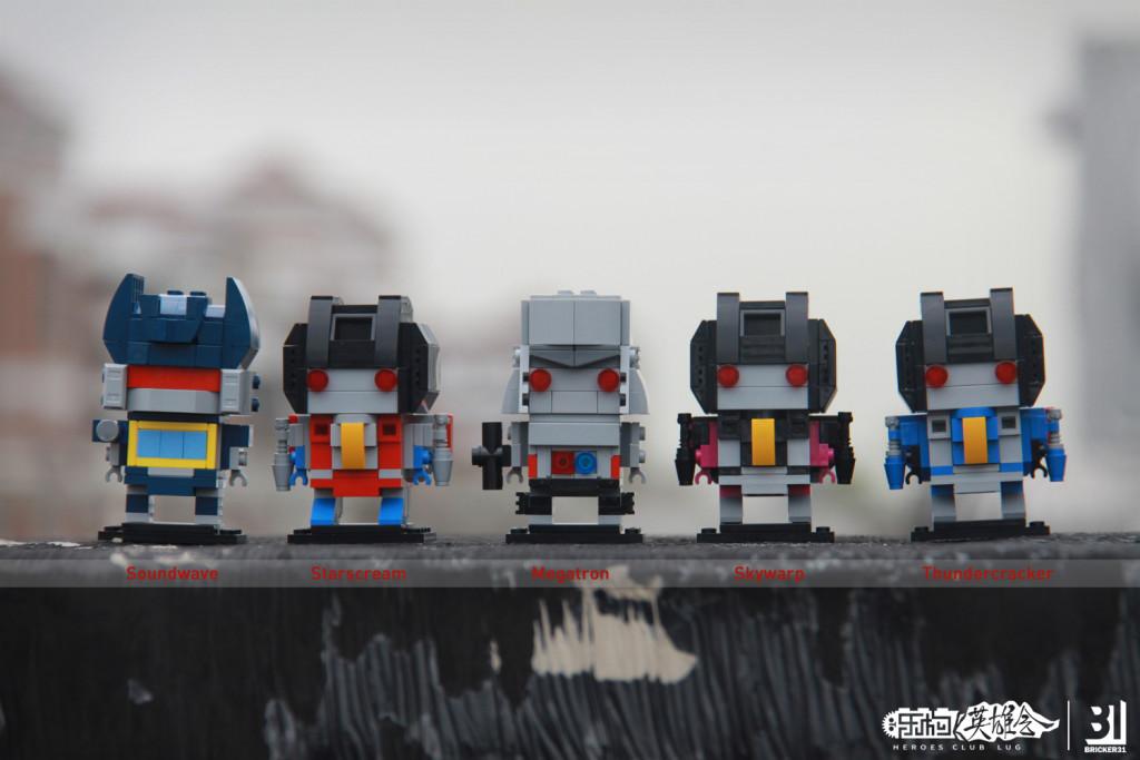 【小某moc】Transformers Brickheadz 第三弹 红蜘蛛惊天雷闹翻天 & 声波
