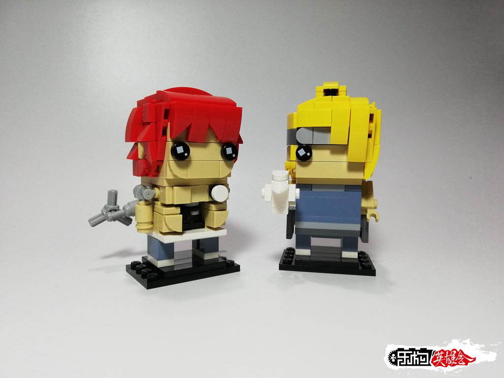 丨冰のmoc丨Brickheadz:赤砂之蝎&迪达拉