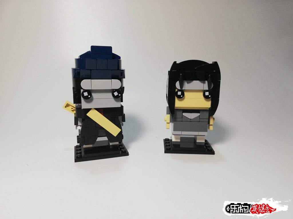 丨冰のmoc丨Brickheadz:干柿鬼鲛&宇智波鼬