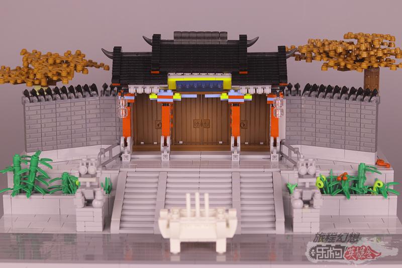 《旅程幻想》的18号MOC作品《千山风景区财神殿正门》