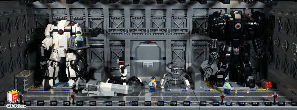 【GS的MOC】未来警用机甲基地
